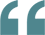 quote marks teal